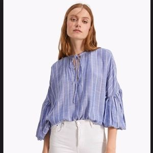 Stradivarius Balloon Sleeve Boho Style Blouse